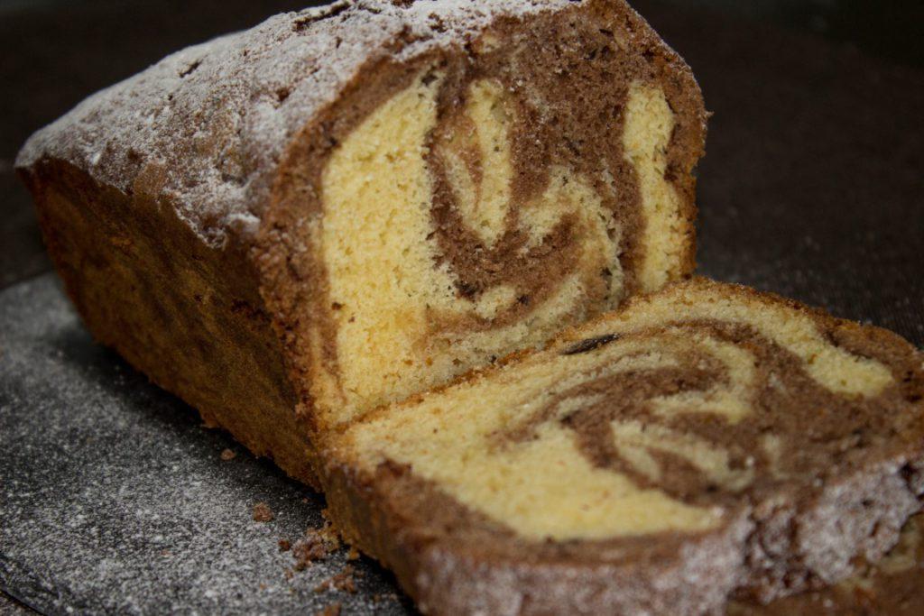 Marmercake met chocolade brokken