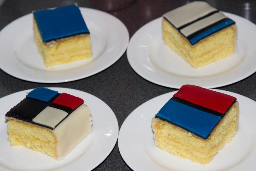 Recept voor een mondriaan taart
