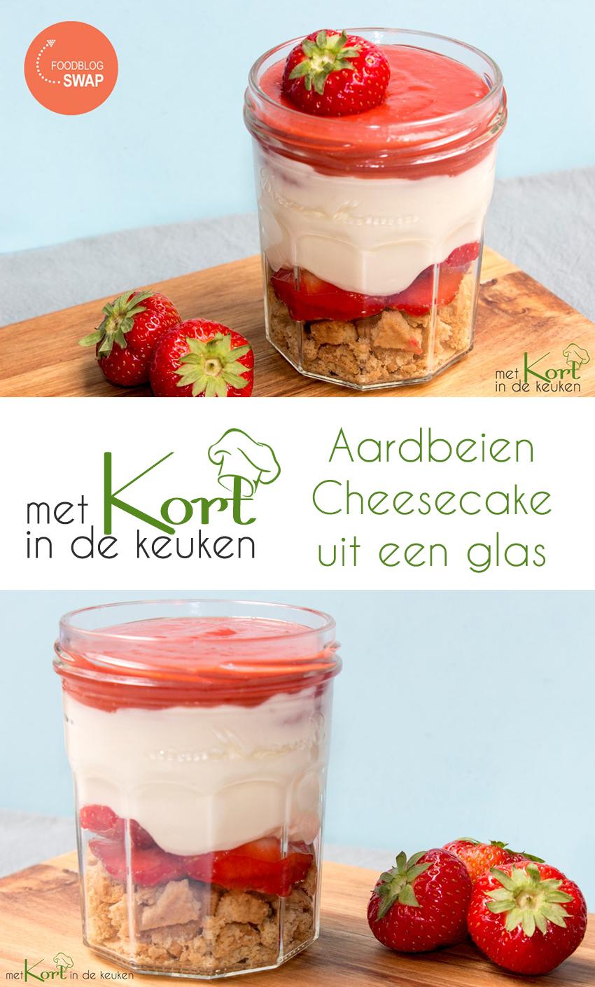 Aardbeien Cheesecake uit een glas