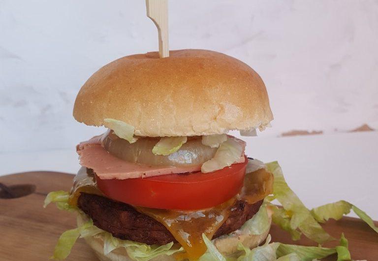Broodje hamburger deluxe zonder vlees