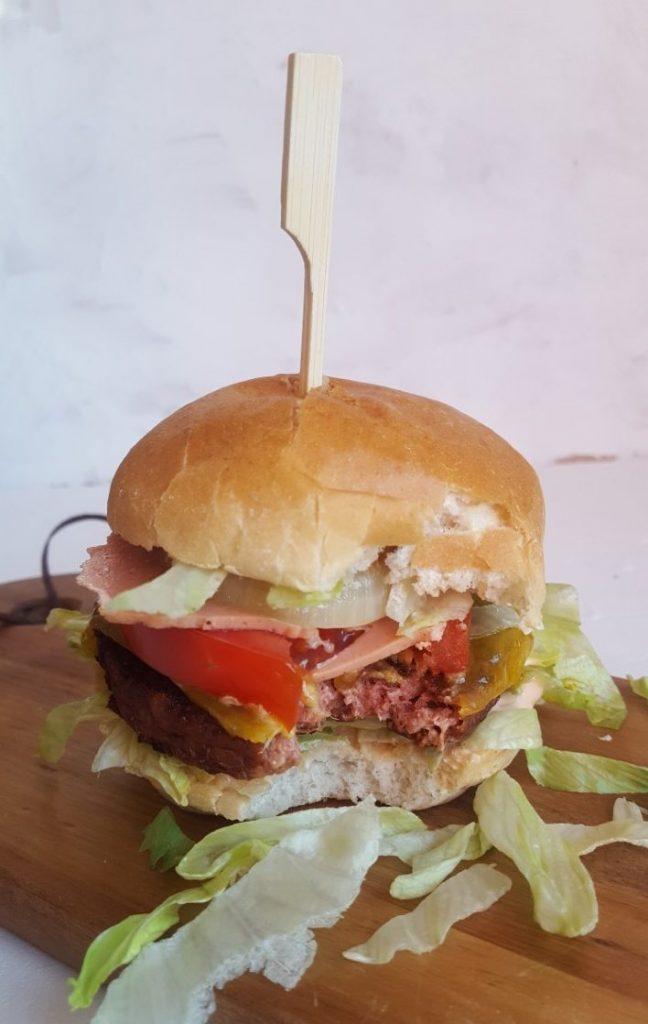 Broodje hamburger zonder vlees