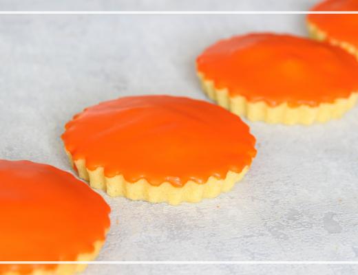 Oranje glacé koeken