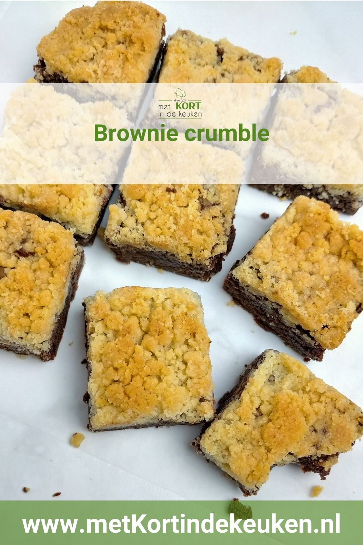 Brownie crumble