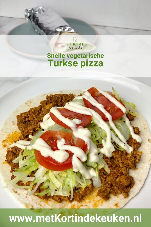 Snelle vegetarische Turkse pizza
