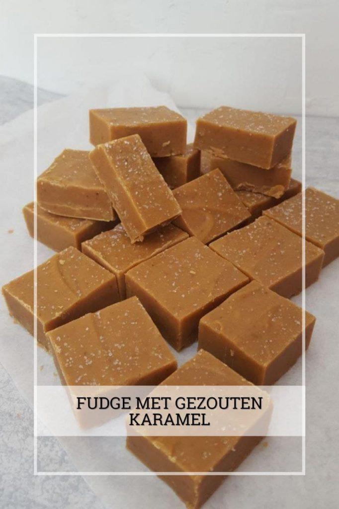 Fudge met gezoute karamel