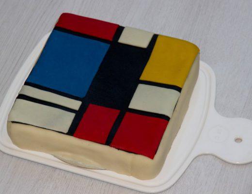 ecept voor een mondriaan taart