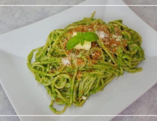 Spaghetti met spinaziepesto