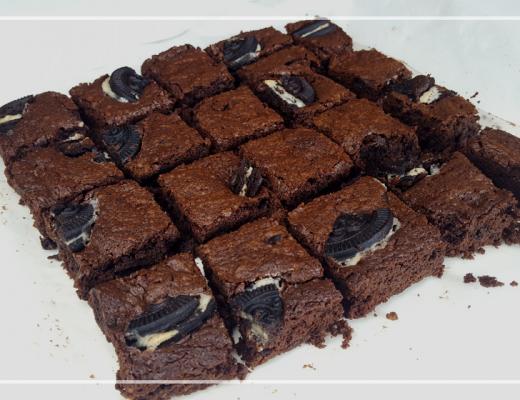 brownie met oreo koekjes