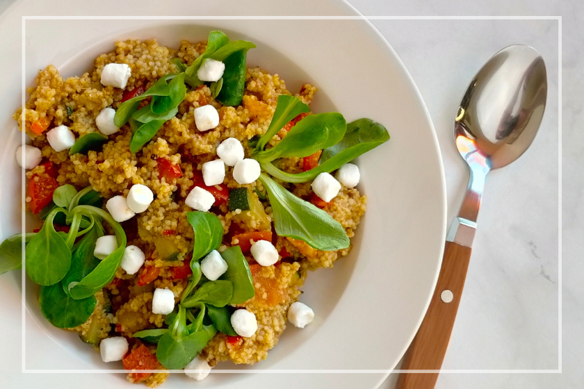 maaltijd couscous salade
